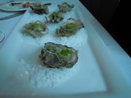 oysters with lime & wasarbi