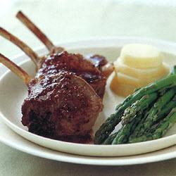 roast rack of lamb with asparagus & potato