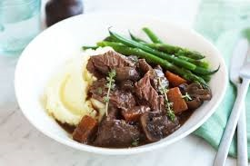 beef cheeks in red wine sauce